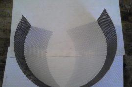 ED 200 Terménydaráló rosta 2,5mm-es perforációval, 1mm-es lemezvastagsággal