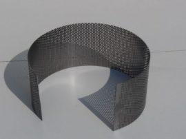 Terménydaráló rosta KD160 darálóhoz 1,5 mm-es lemezvastagsággal, 2,5 mm-es perforációval