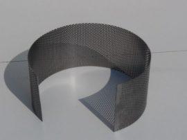 Terménydaráló rosta KD 160 típusú darálóhoz 0,8 mm-es lemezvastagsággal, 0,8 mm-es perforációval