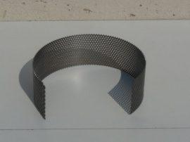 Terménydaráló rosta KD161 darálóhoz 0,8 mm-es lemezvastagsággal, 0,8 mm-es perforációval