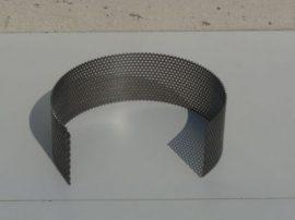 Terménydaráló rosta KD161 darálóhoz 1,5 mm-es lemezvastagsággal, 3 mm-es perforációval